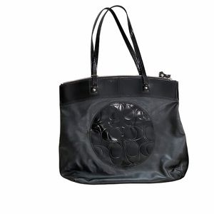 Coach Laura Black Leather Tote